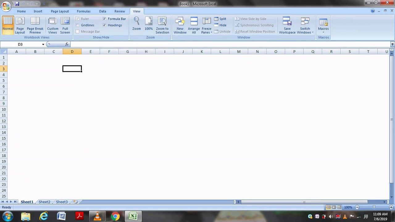 How To Creat Blank Spreadsheet In Excel Remove Gridlines Headings Excel Spreadsheet How To Remove
