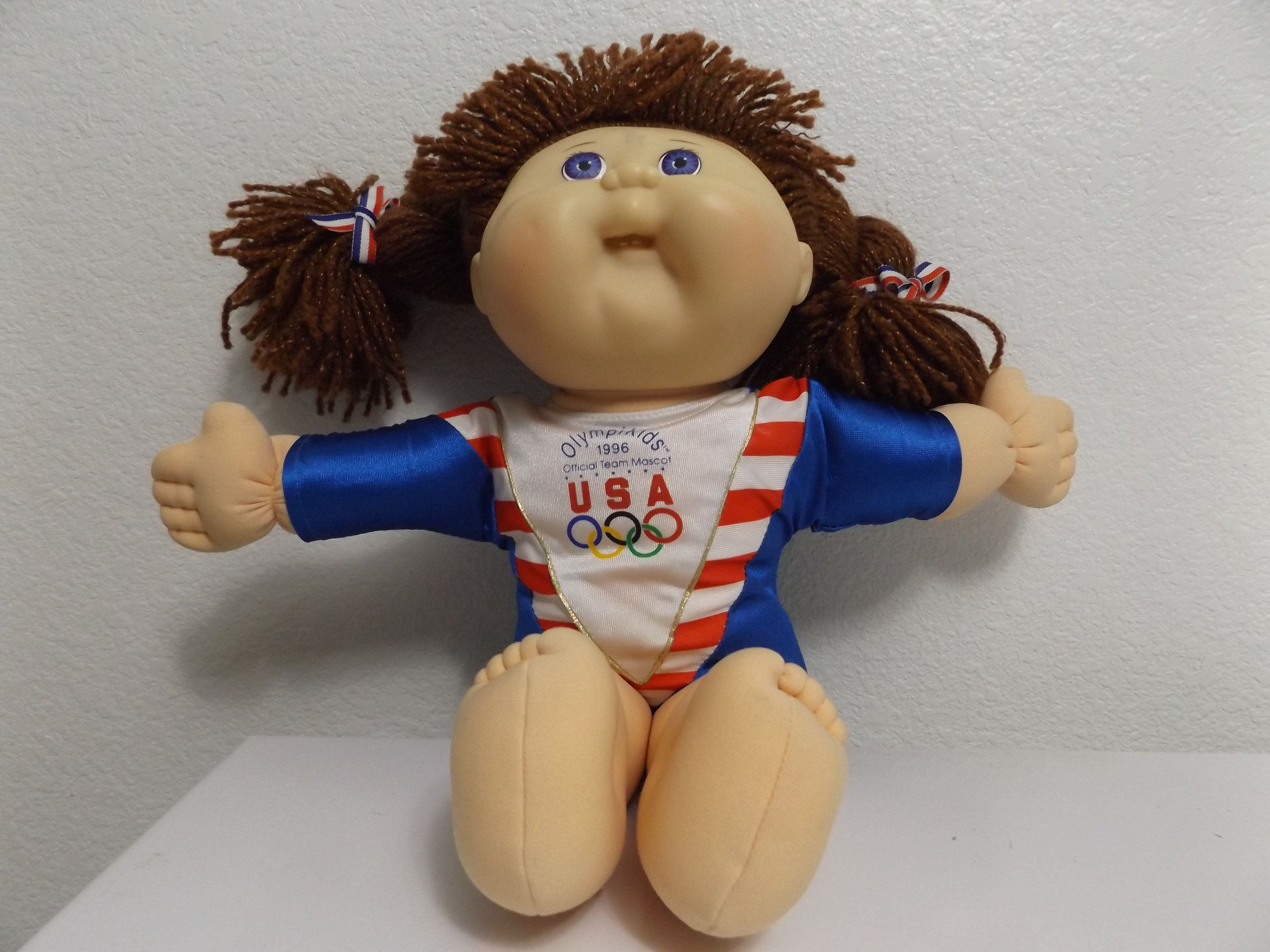 Vintage Cabbage Patch Olympic Doll 1996 Olympikids Official Etsy Cabbage Patch Yarn Braids Dolls