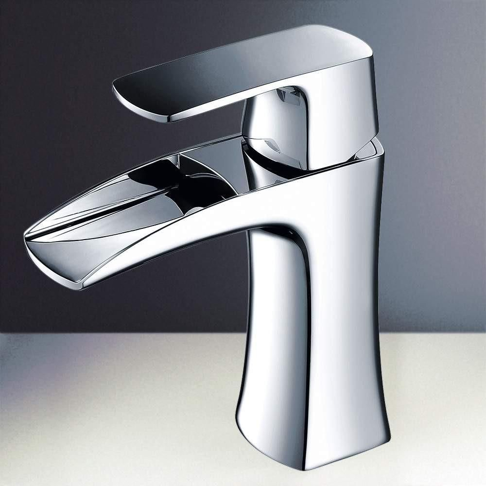 Fresca Fortore Single Hole Mount Bathroom Vanity Faucet Chrome ...