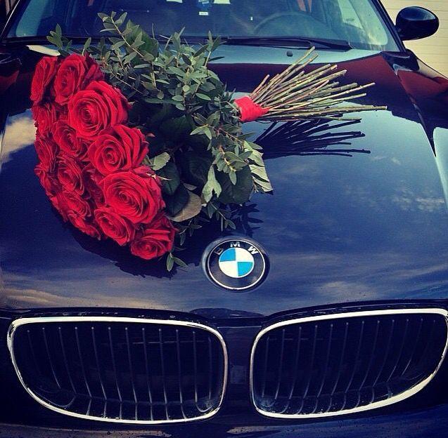 Luxury life, lifestyle, fashion girl, BMW, flowers, rose red – #arabahaberleri #…