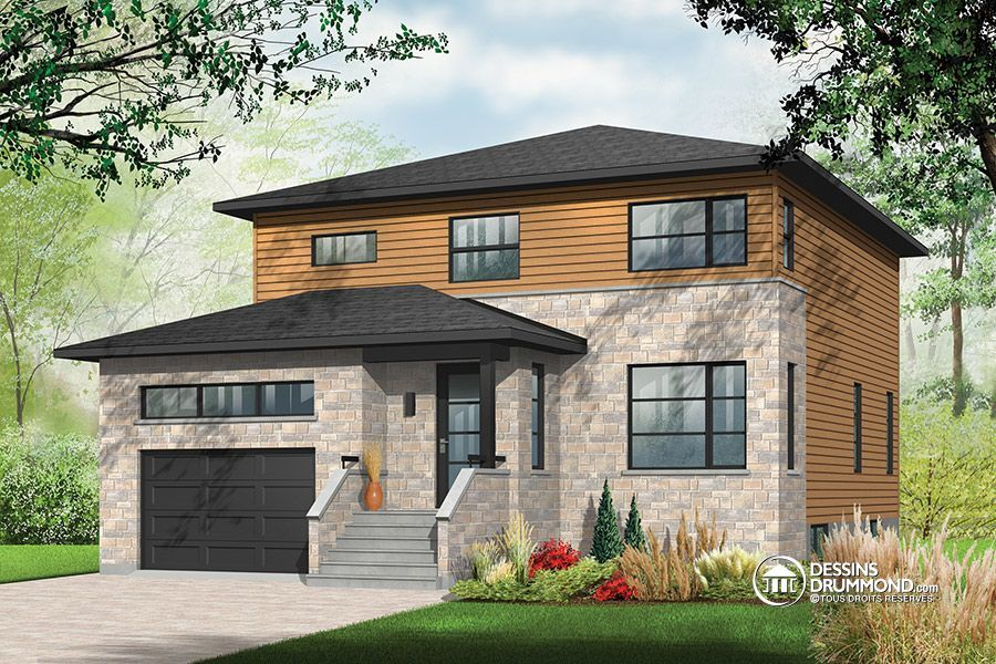 Contemporary Style House Plans 2135 Square