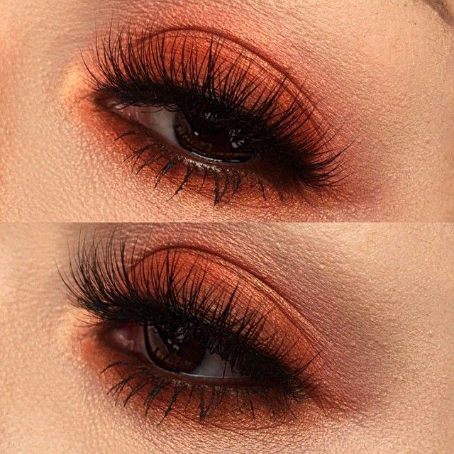 Orange tinted eyes today ️ Products used :  @meltcosmetics  BANG BANG lipstick…