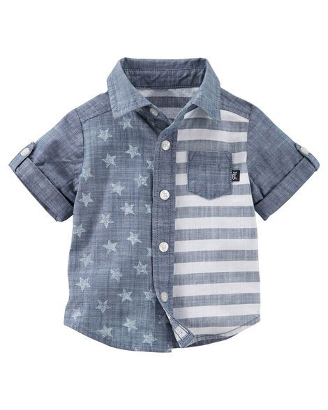 Stars & Stripes Chambray Button-Front Shirt
