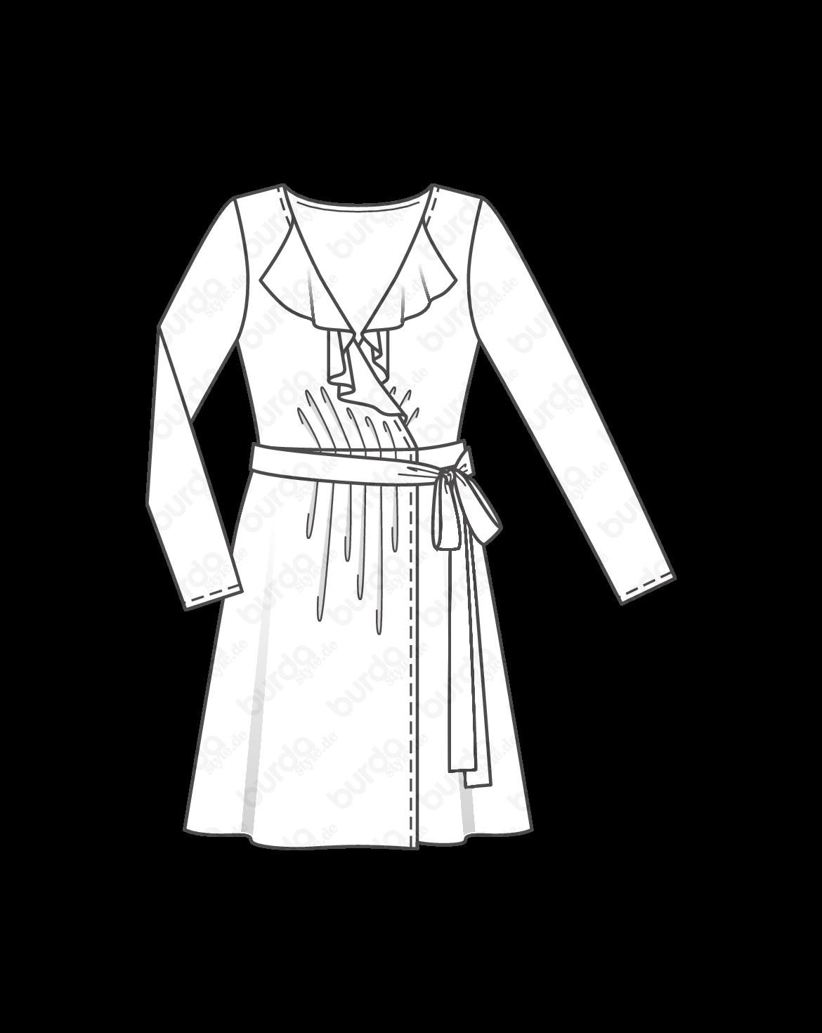 Schnittmuster Wickelkleid 10/2016 #116 | Sewing dresses | Pinterest ...