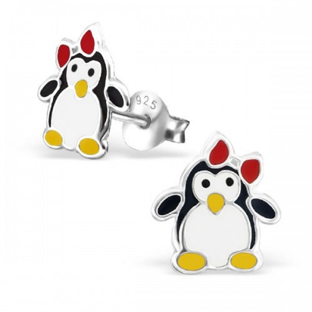 Best Wing Jewelry .925 Sterling SilverSnowman Stud Earrings for Children and Teens