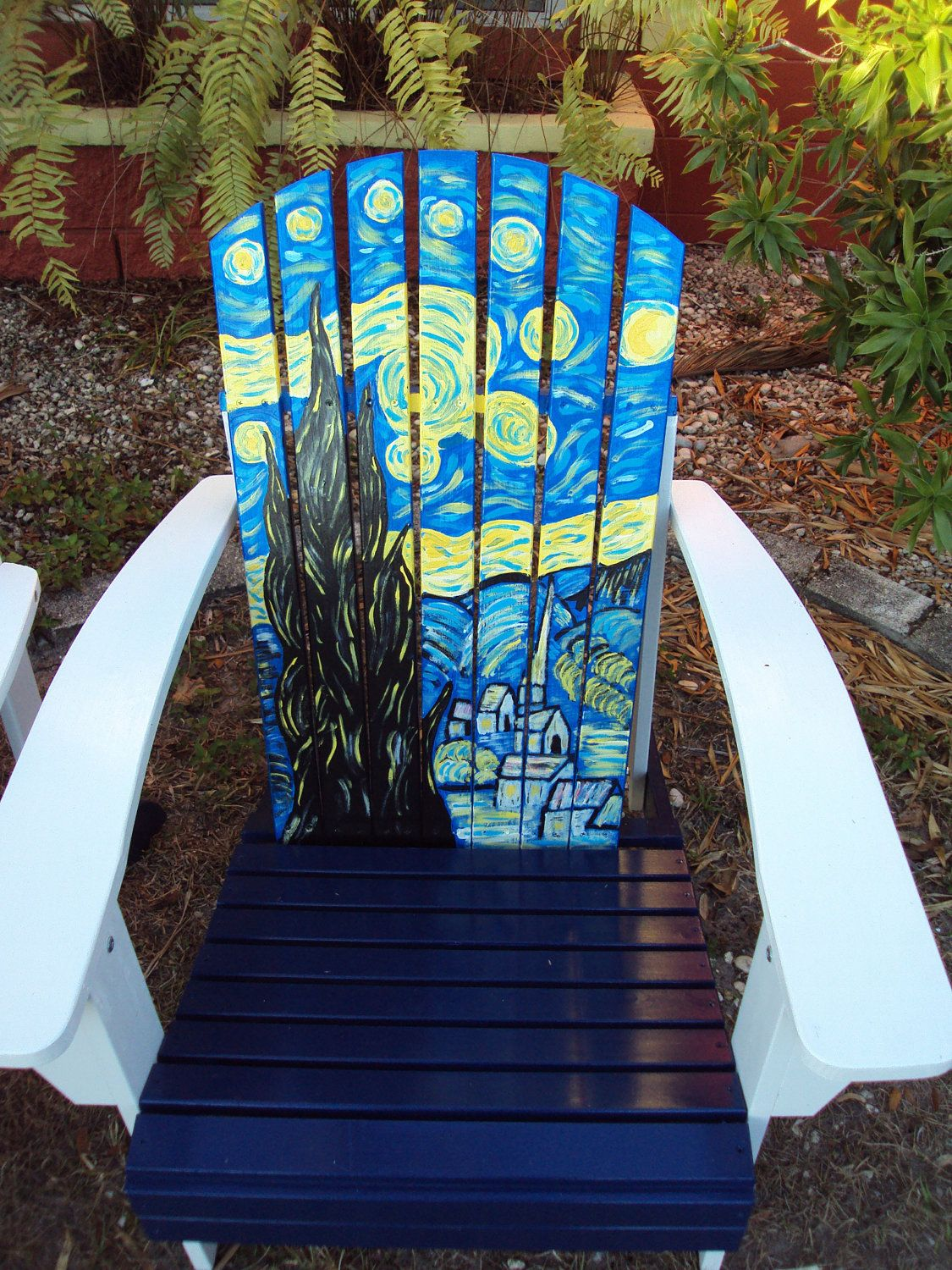 Ideas for hand painted chairs - Hand Painted Adirondack Chair Vincent Wouldn T Like This