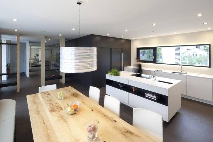 Moderne Wohnküchen moderner bungalow mit atrium paschinger architekten zt kg
