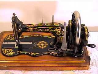 1889 Singer Hand Crank Sewing Machine MOD12 Fiddlebase | eBay
