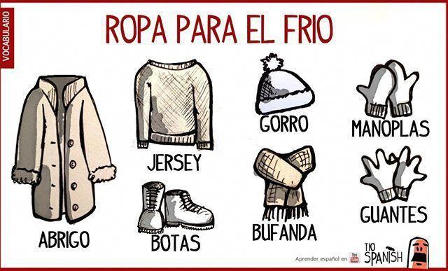 Me abrigo in spanish
