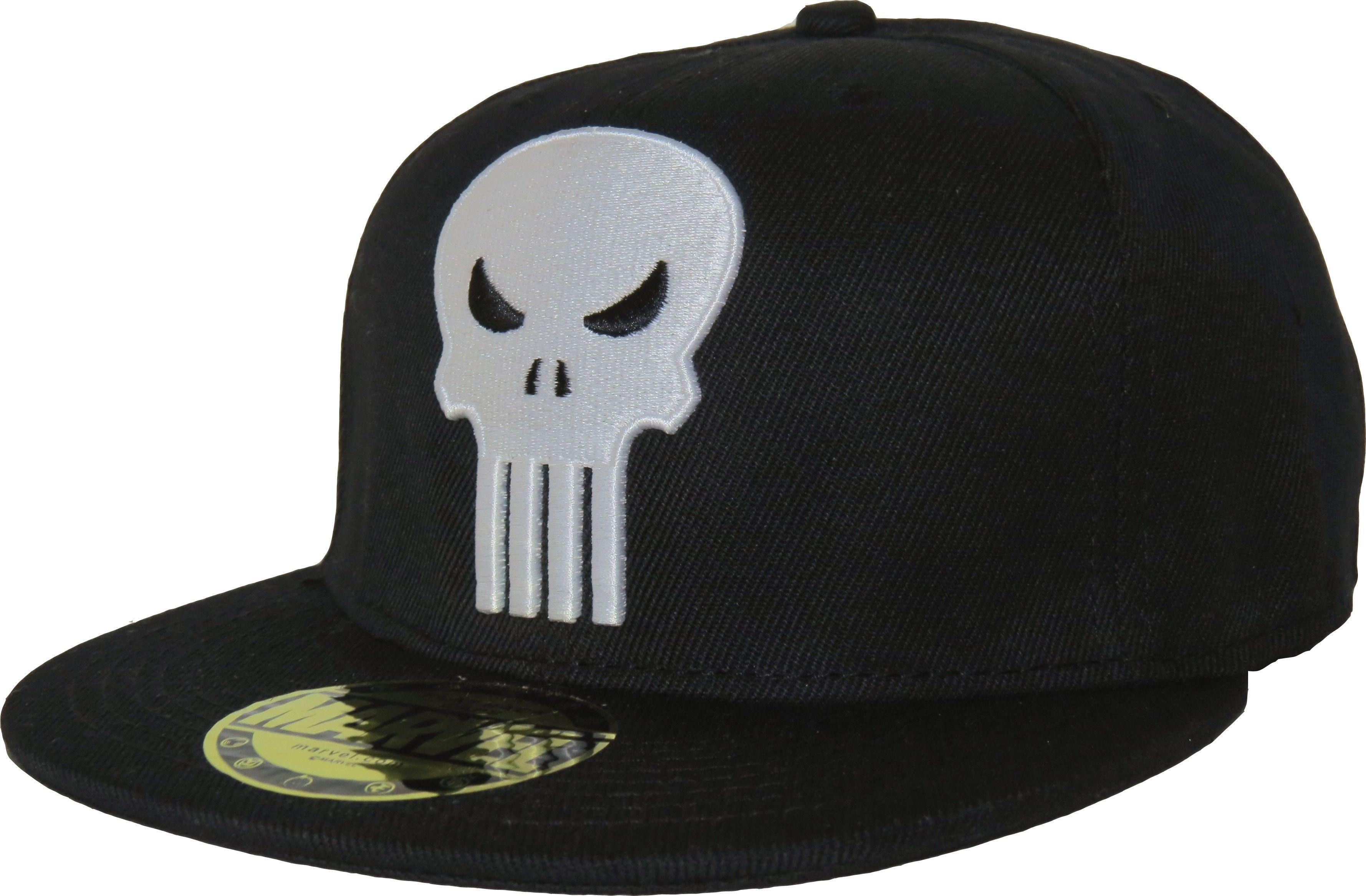 7bb0bd94e55 Marvel Comics Official Punisher Snap-back Cap. Black with The Punisher  front Skull logo
