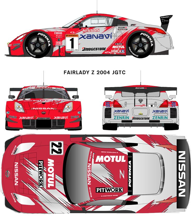 Nissan 350z 2004jgtc | Racing Car blueprint | Pinterest | Nissan ...