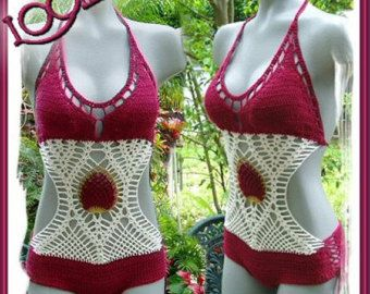 Custom Crochet FANTASY WRAP AROUND Monokini by Lookielabel on Etsy
