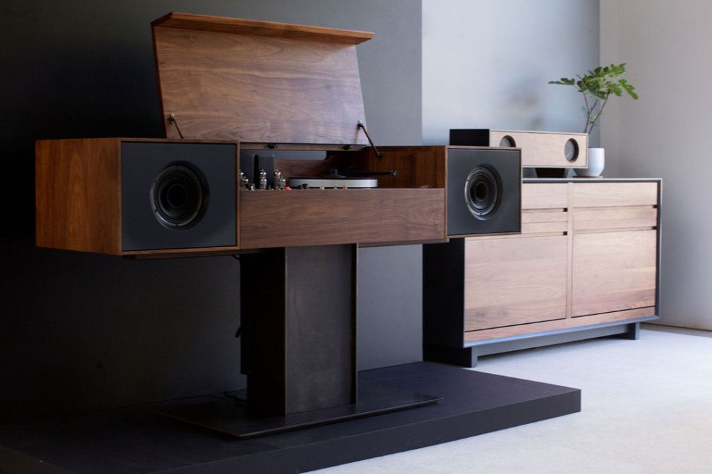 Gorgeous standalone record player stand. Mmm mm.