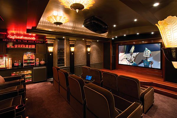 The Sickest Home Theatres. | The Rice, Bar And Concession Stands