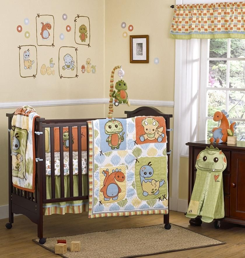 Cocalo 8 Piece Bedding Set Dinos At Play Dinosaur Crib Bedding Dinosaur Baby Room Baby Bedding Sets