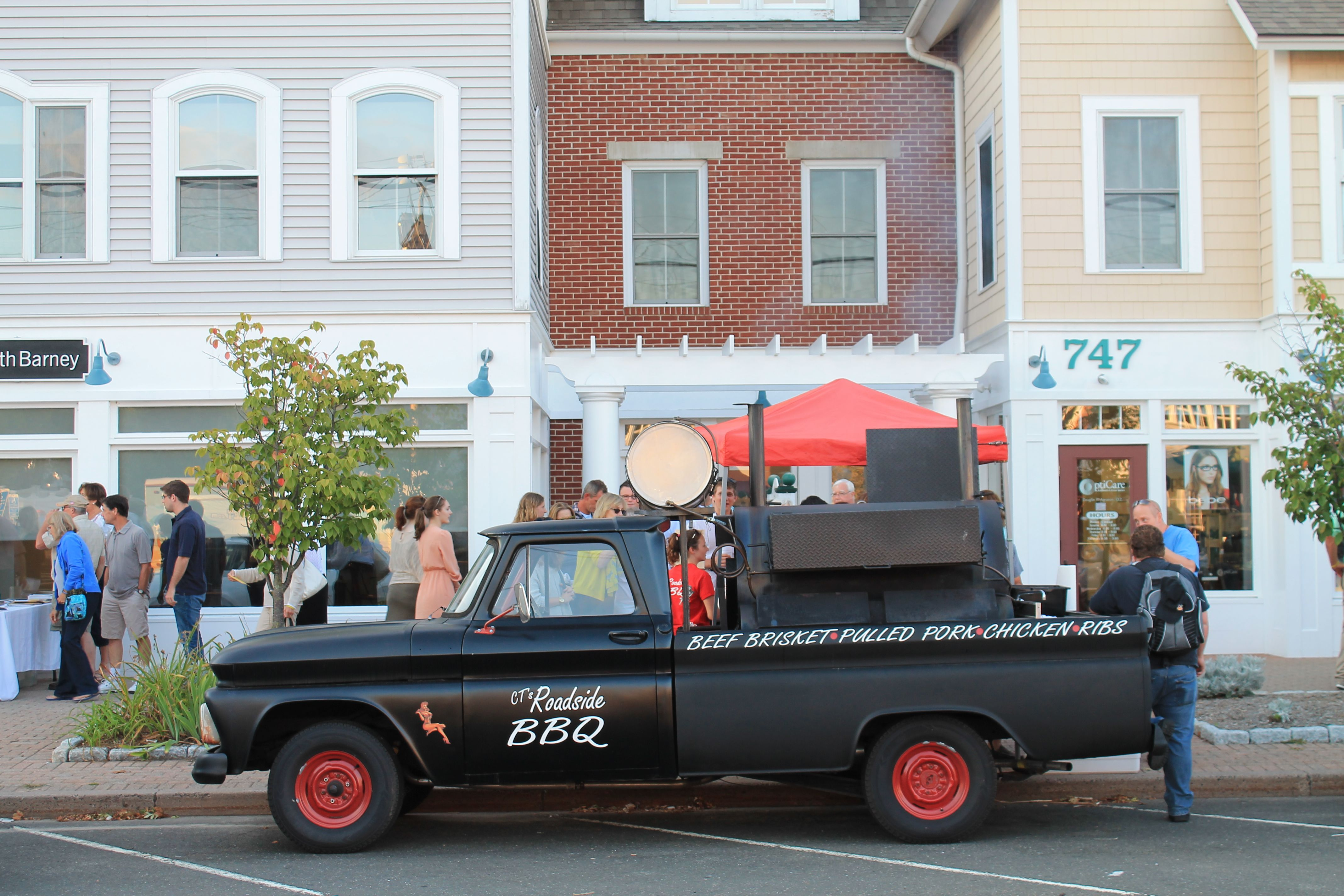 Find our favorite food truck, CT's Roadside BBQ, in front