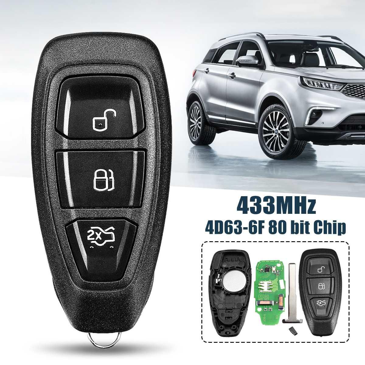 433mhz 3 Button Smart Intelligent Full Remote Key For Ford B Max