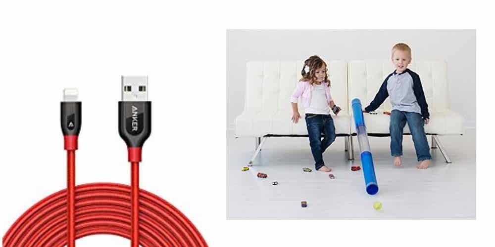 Save Big on a 10' Lightning Cable, Get a Tube For Your Kids to Play With - Daily Deals! - https://geekdad.com/2017/01/daily-deals-012717/?utm_campaign=coschedule&utm_source=pinterest&utm_medium=GeekMom&utm_content=Save%20Big%20on%20a%2010%27%20Lightning%20Cable%2C%20Get%20a%20Tube%20For%20Your%20Kids%20to%20Play%20With%20-%20Daily%20Deals%21