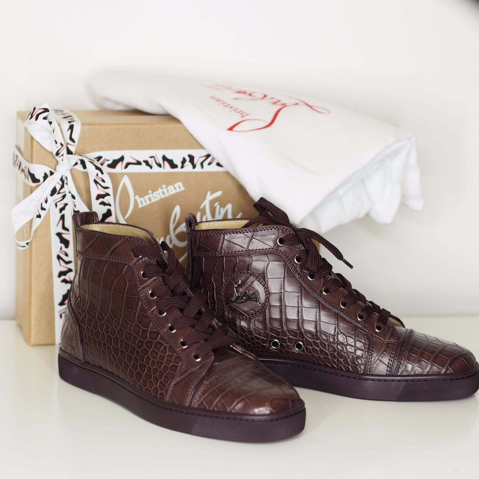 louboutin crocodile sneakers