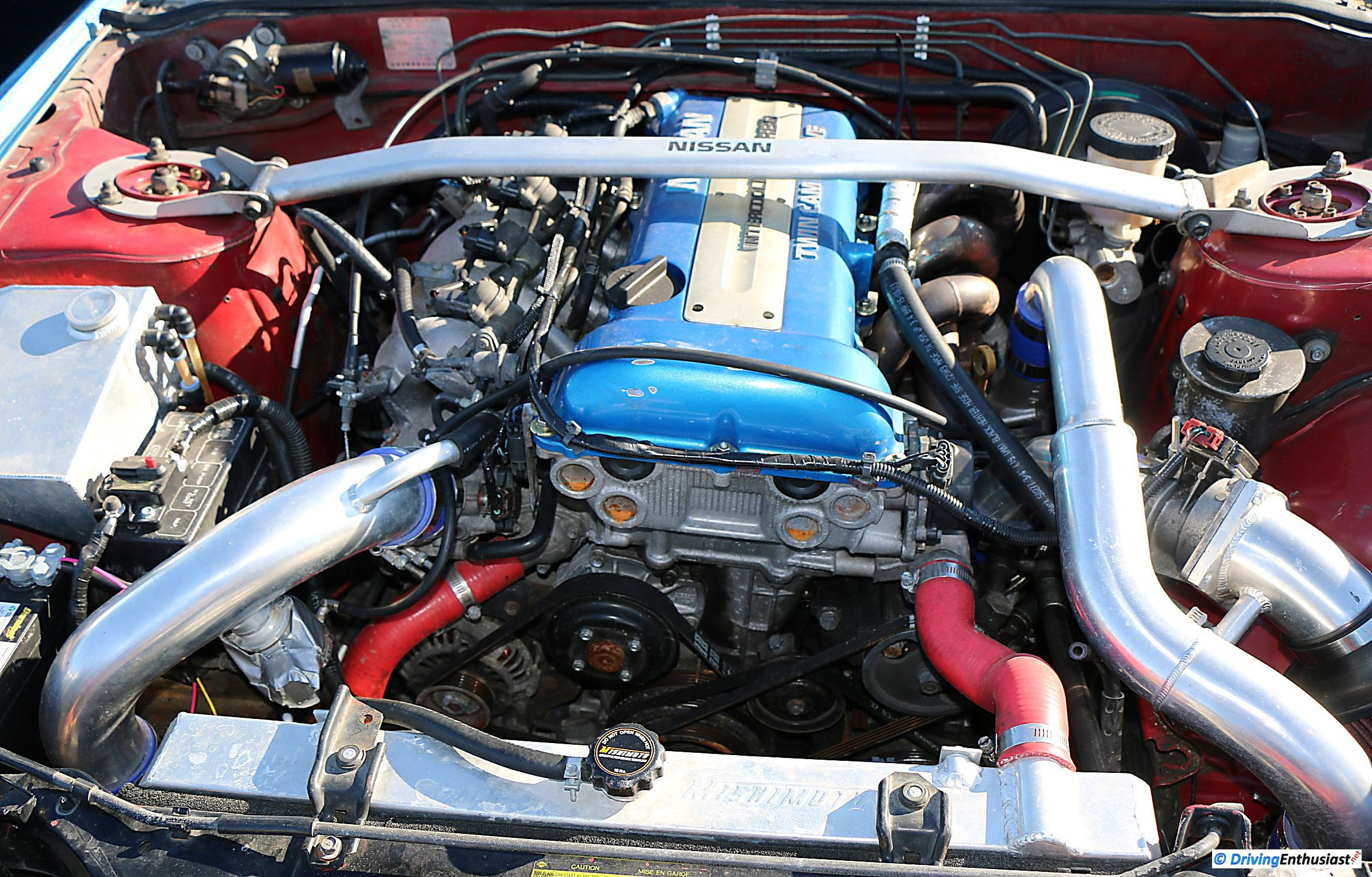Nissan 240SX (Silvia S13) with 2 0L SR20DET turbo I4 engine
