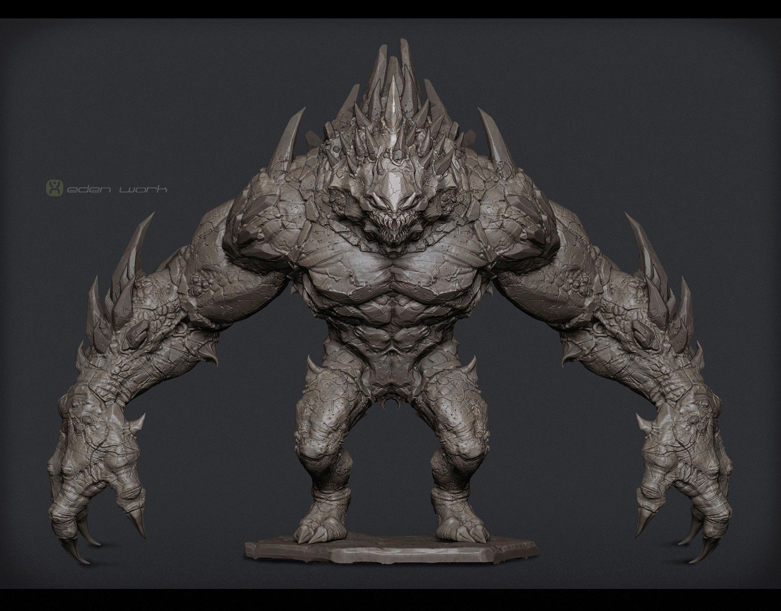 Character Design Unreal Engine : Unreal engine game project giant monster by 戚震雨