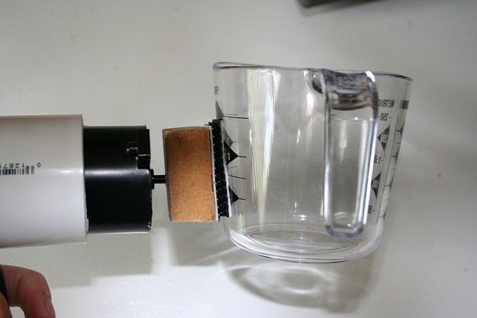 Make your own switch activated pouring measuring cup