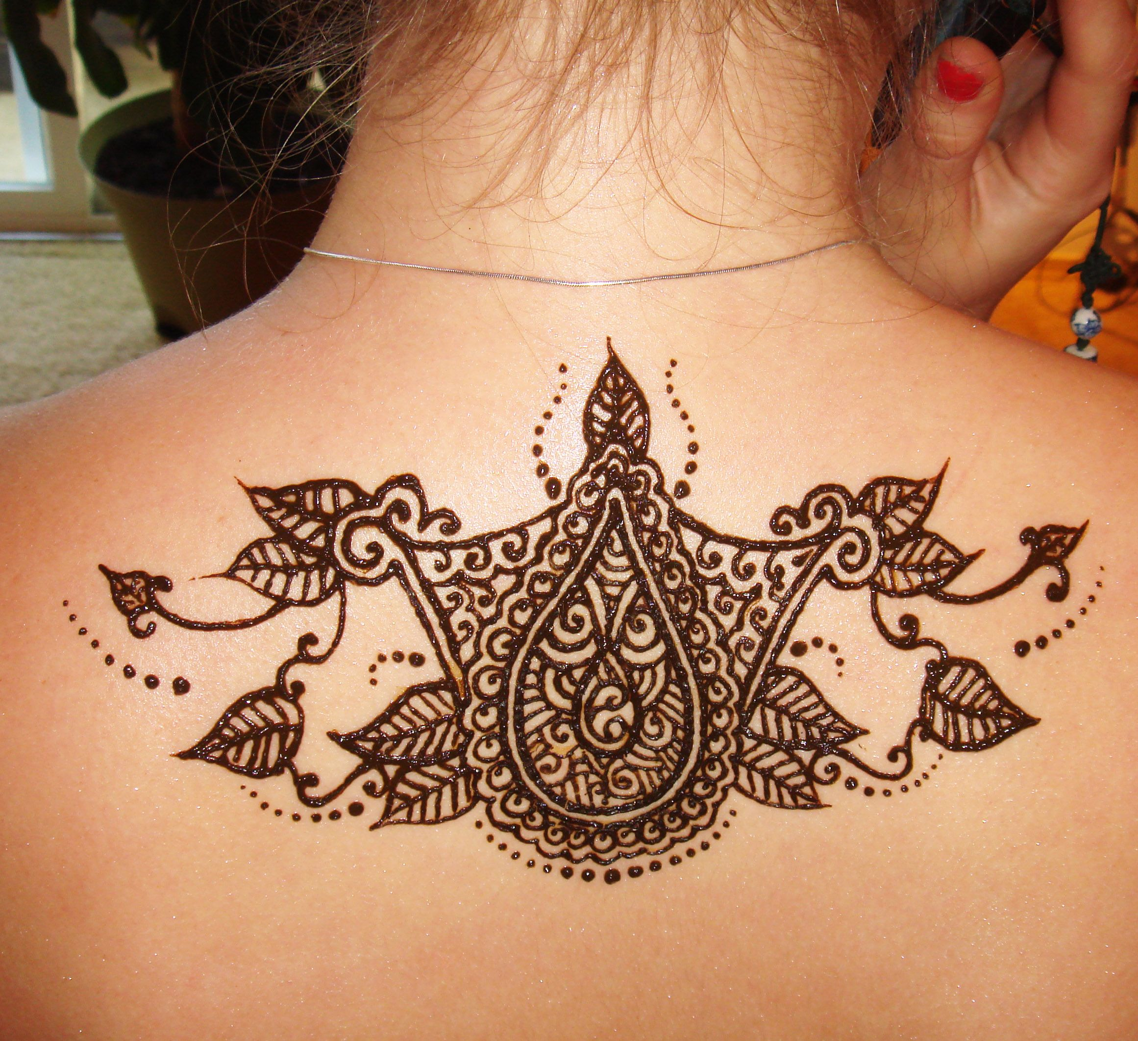 Henna Tattoo Chest: Henna Art Of The Face, Chest, Back, Etc.