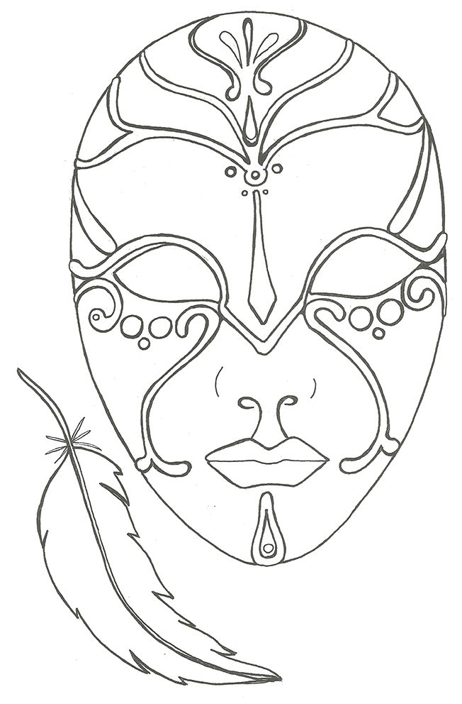 Coloriage le masque et la plume birthday pinterest masking adult coloring and mardi gras - Coloriage masque ...