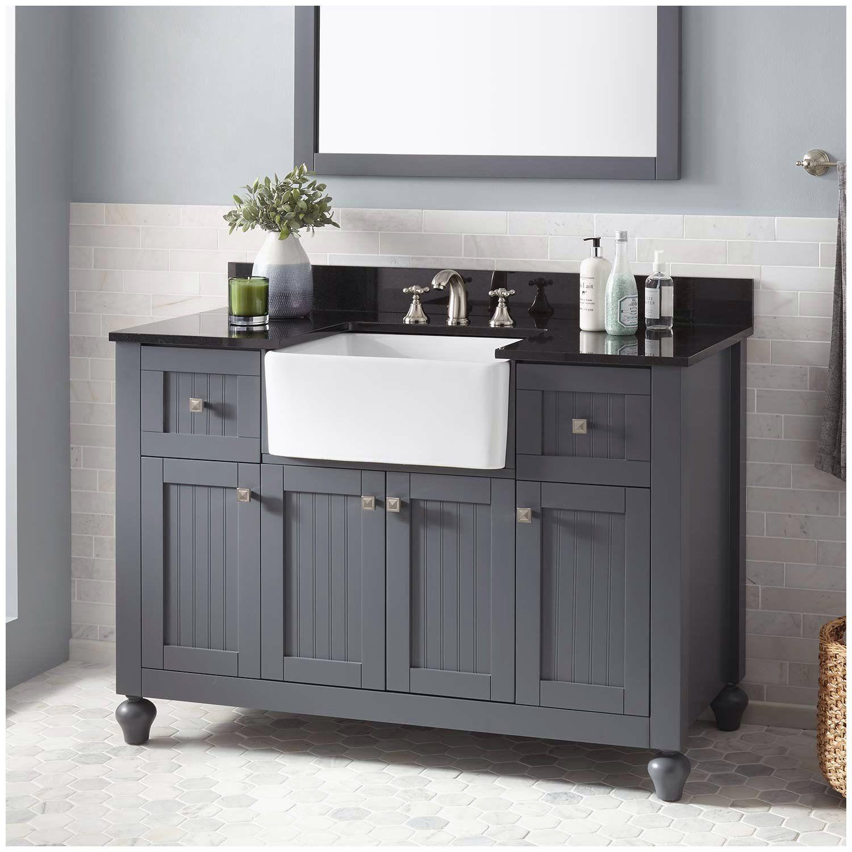 Bathroom Vanities Single Sink 60 Inches In 2020 Farmhouse Sink