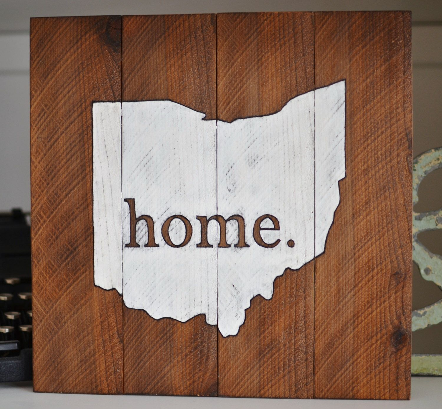Home Ohio pallet reclaimed wood sign at My Midwest Home on Etsy ...