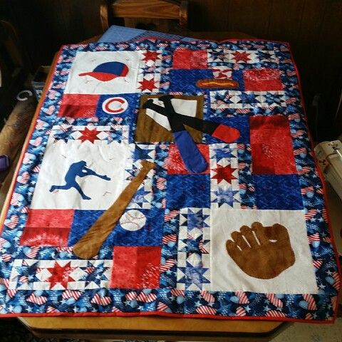 Cute Baseball Quilt But Looks Rather Advanced For