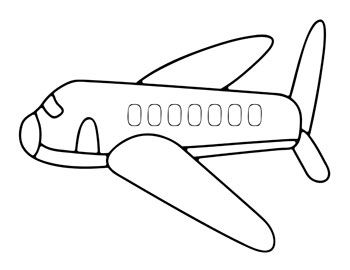 Printable Airplane Coloring Pages For Kids From PrintableTreats