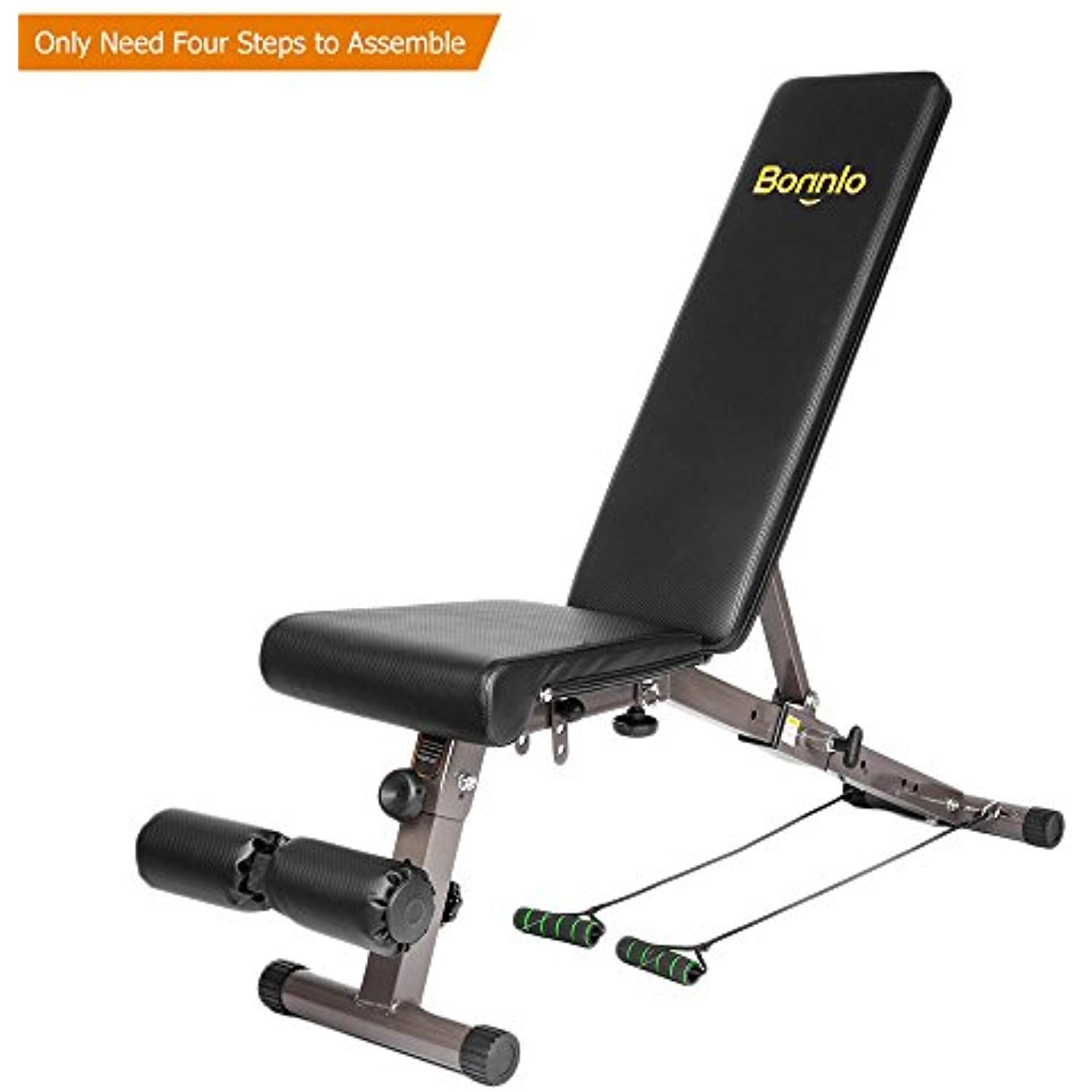 Bonnlo Upgraded Adjustable Bench Weight Bench Press For Body Workout Fitness 660 Lbs Capacity Workout Bench Weight Benches Fitness Body Recumbent Bike Workout