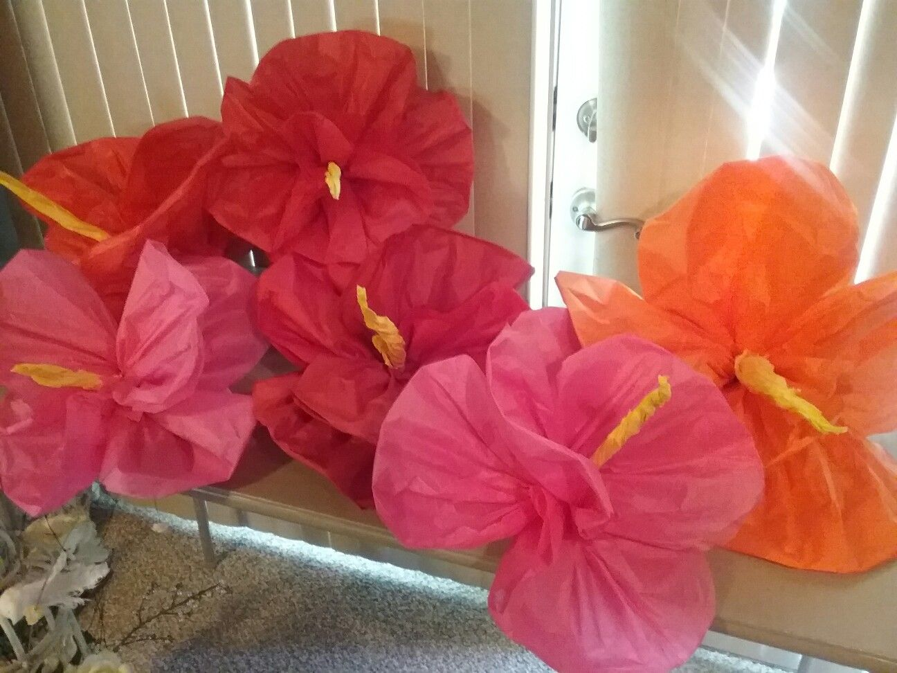 Tissue paper hibiscus inspirations by kathy pinterest luau tissue paper hibiscus hawaiian party decorations hawaiian parties hawaiian theme tiki party izmirmasajfo