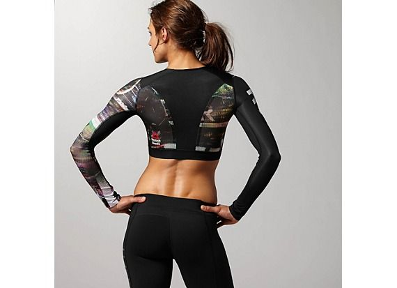 7c834dac42 Reebok Women's Reebok CrossFit Compression Crop Top Long Sleeve Tops ...