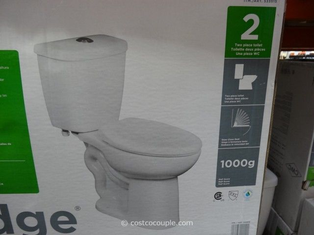 Costco Water Ridge Dual Flush Toilet With Softclose Seat 110 1000g
