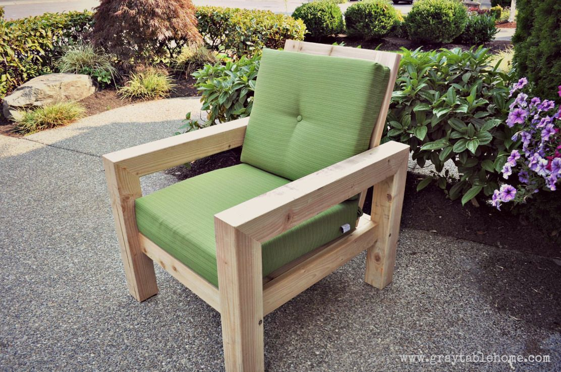 DIY Modern Rustic Outdoor Chair - Gray Table Home | Hand Built ...