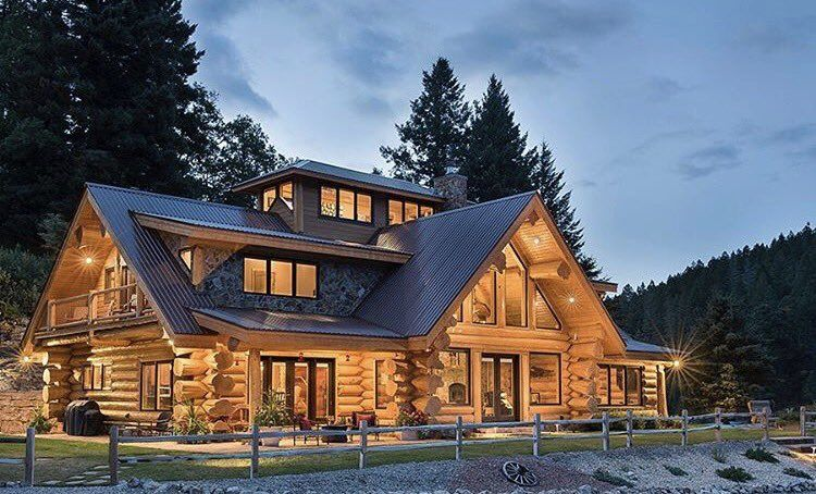 Pin By Otomosy Zsofia On Dream Home Log Homes Timber House Custom Home Builders