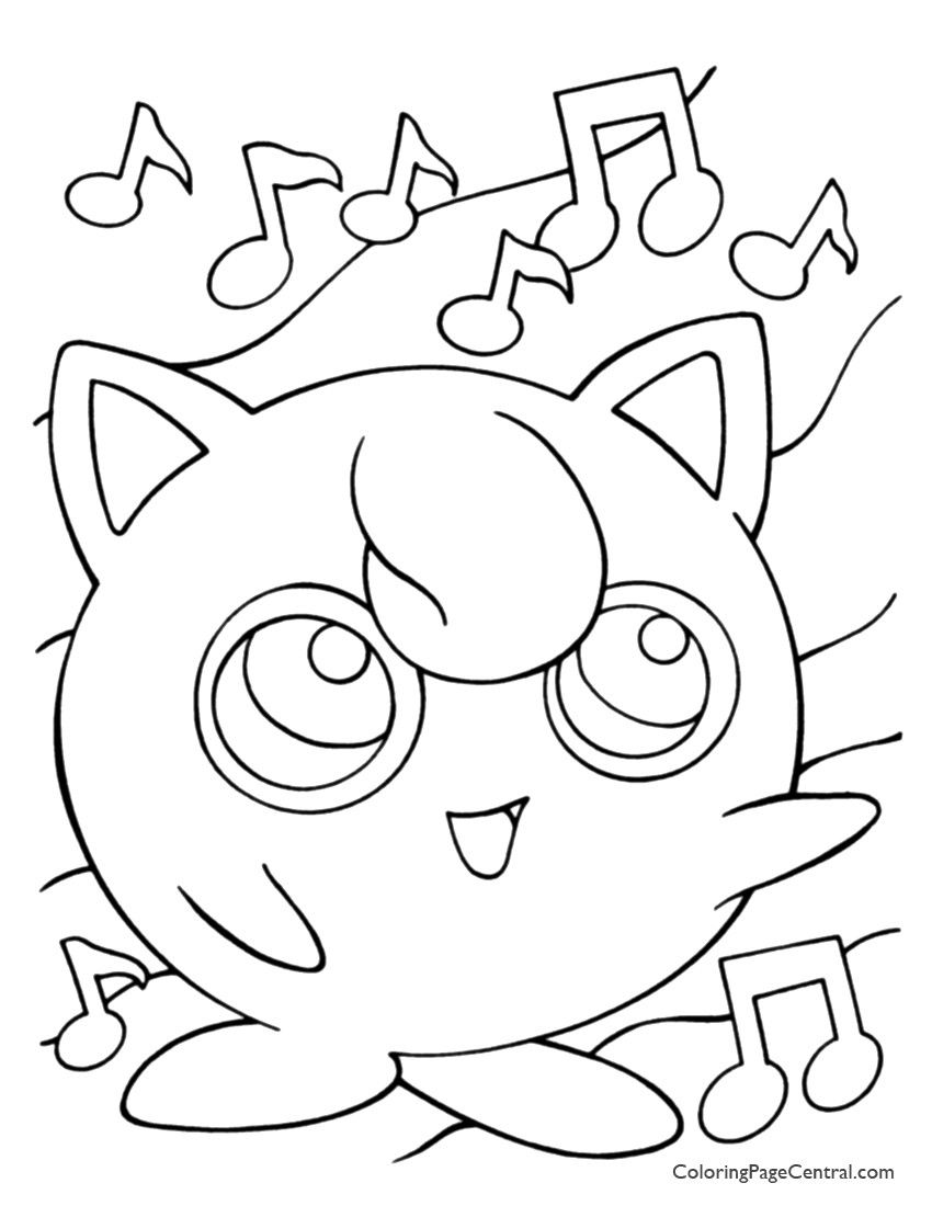 Jigglypuff Pokemon Coloring Page Youngandtae Com In 2020 Pokemon Coloring Pages Coloring Pages Pokemon Coloring