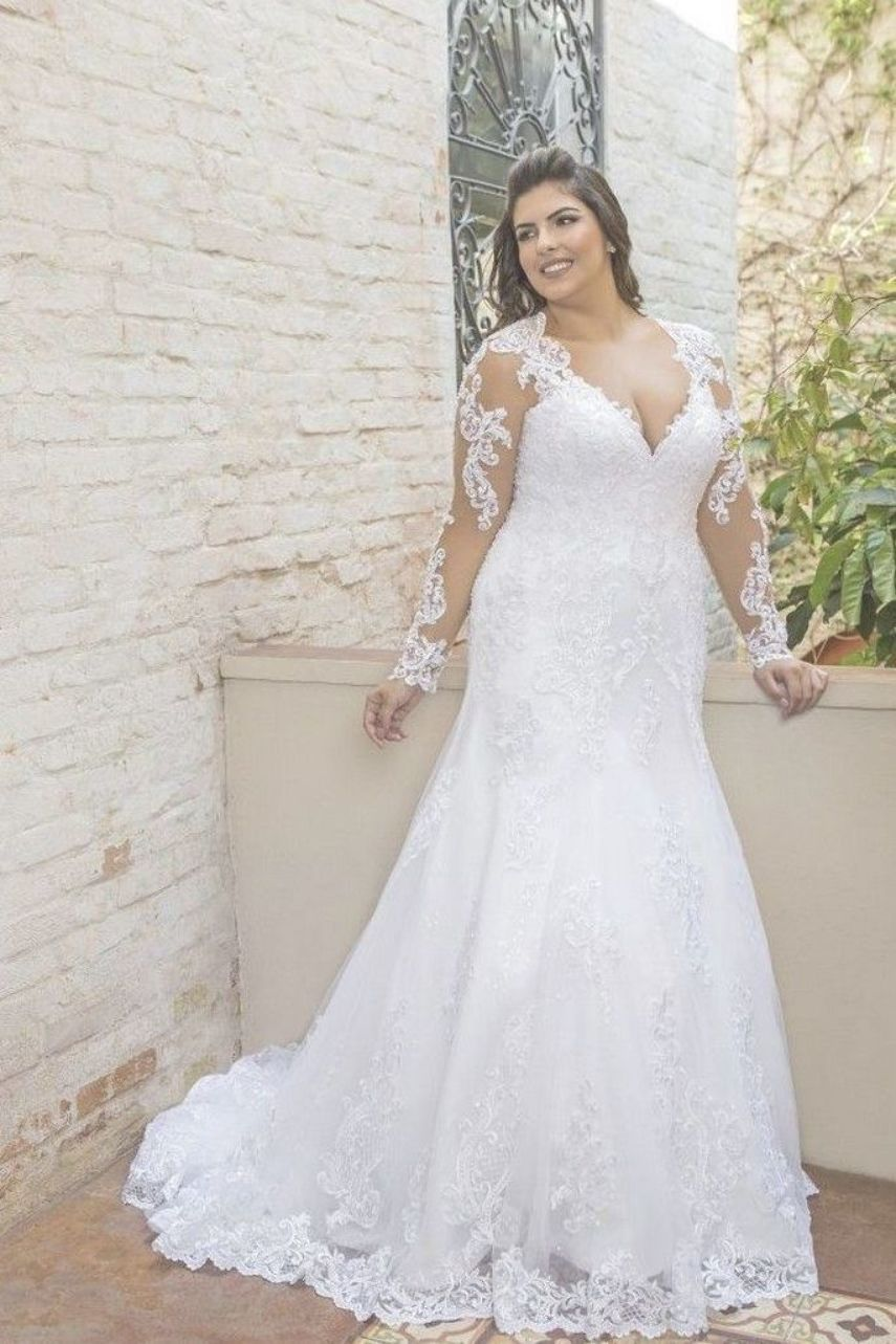 23 Full Lace Wedding Dresses Plus Size With Empire High Waist 17 Plus Wedding Dresses Plus Size Wedding Dresses With Sleeves Ball Gowns Wedding