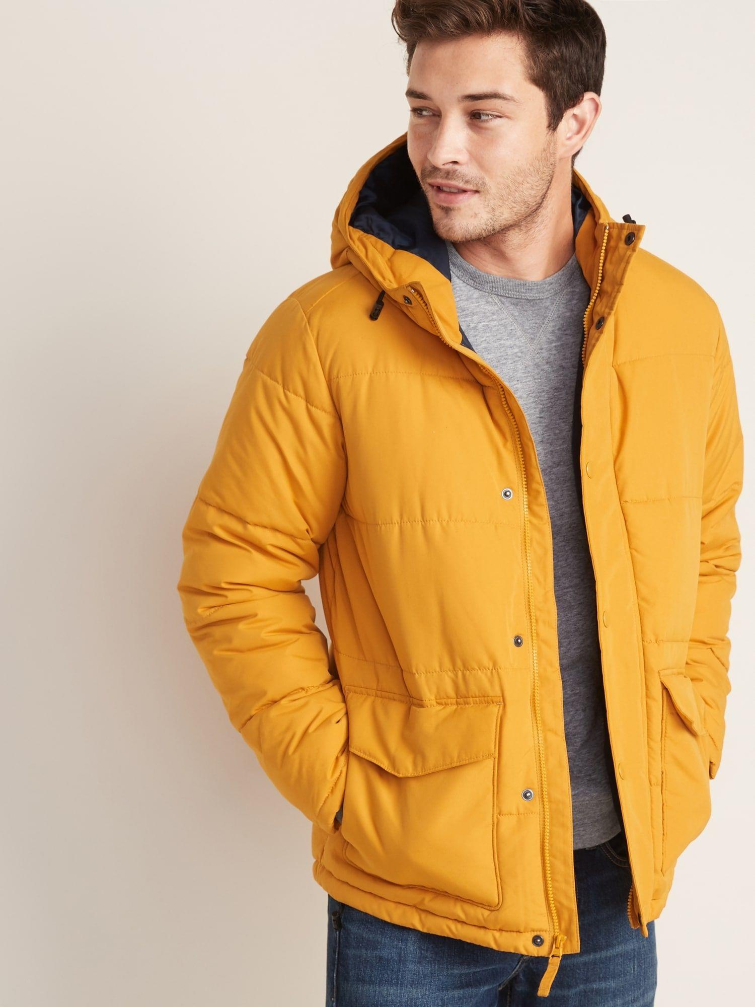 WaterResistant Hooded Puffer Jacket For Men Puffer