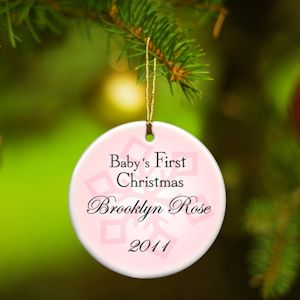 Personalized baby girl first christmas ornament from baby gifts personalized baby girl first christmas ornament from baby gifts and gift baskets 17 babyshower negle Gallery