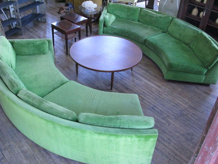 Curved Sofas Semi Circular Sectional Sofa By Milo Baughman Image 9