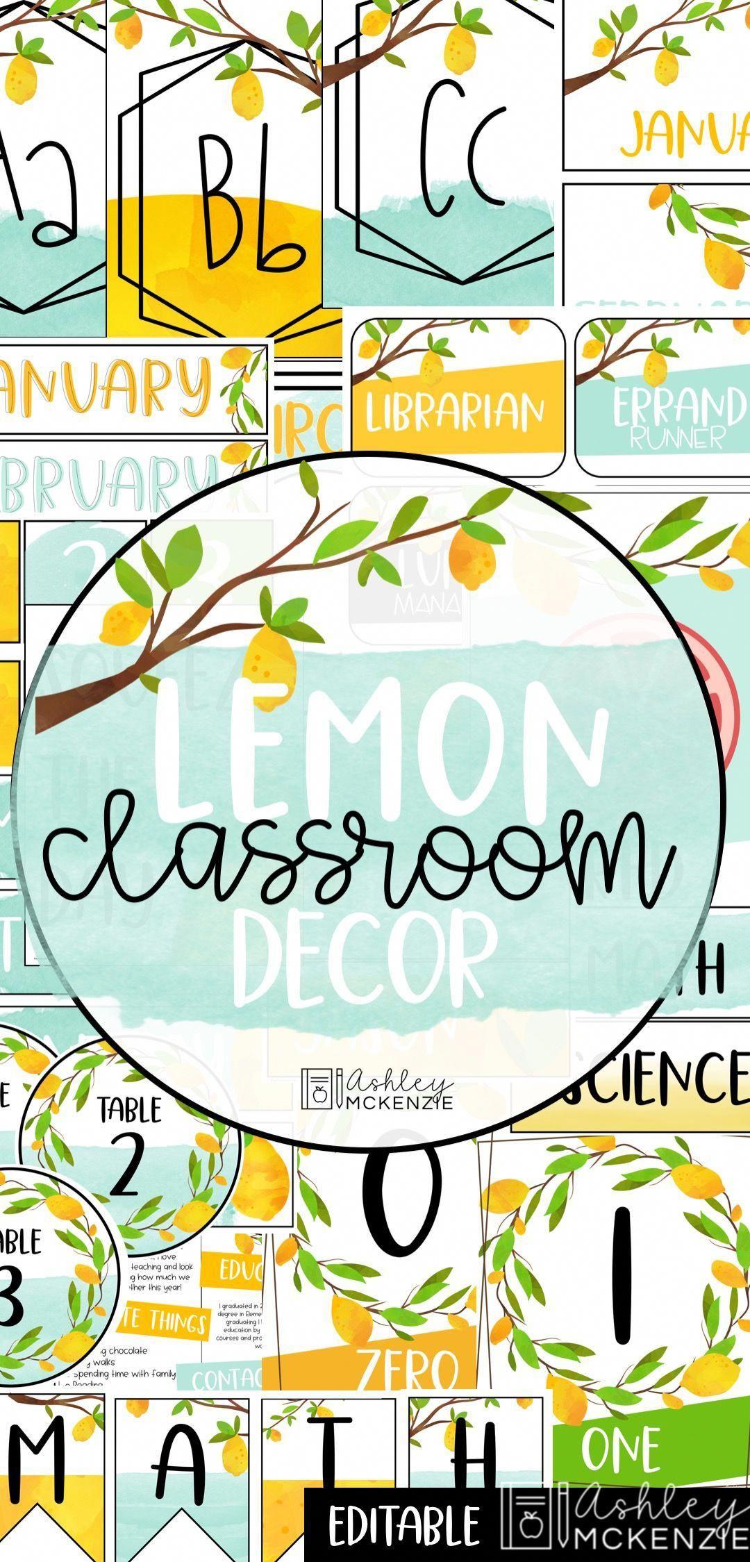 Lemon Classroom Decor