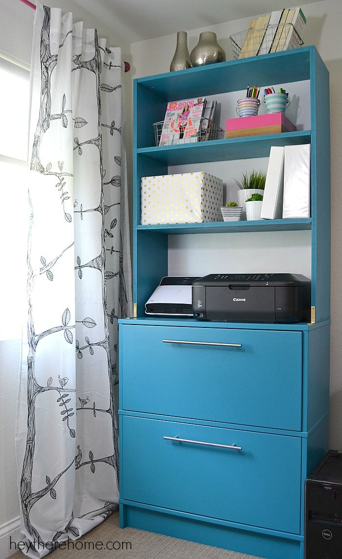 DIY Shelving, Printer Stand And File Cabinet