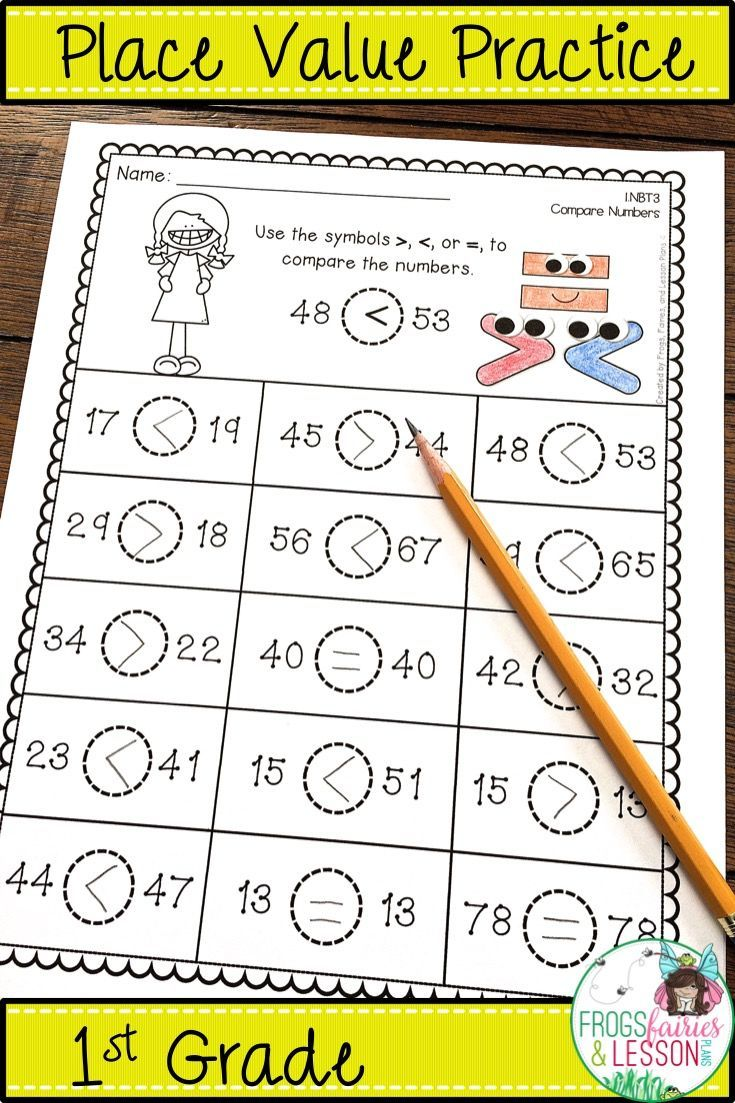 Place Value 1st Grade Place Values Place Value Worksheets Grade