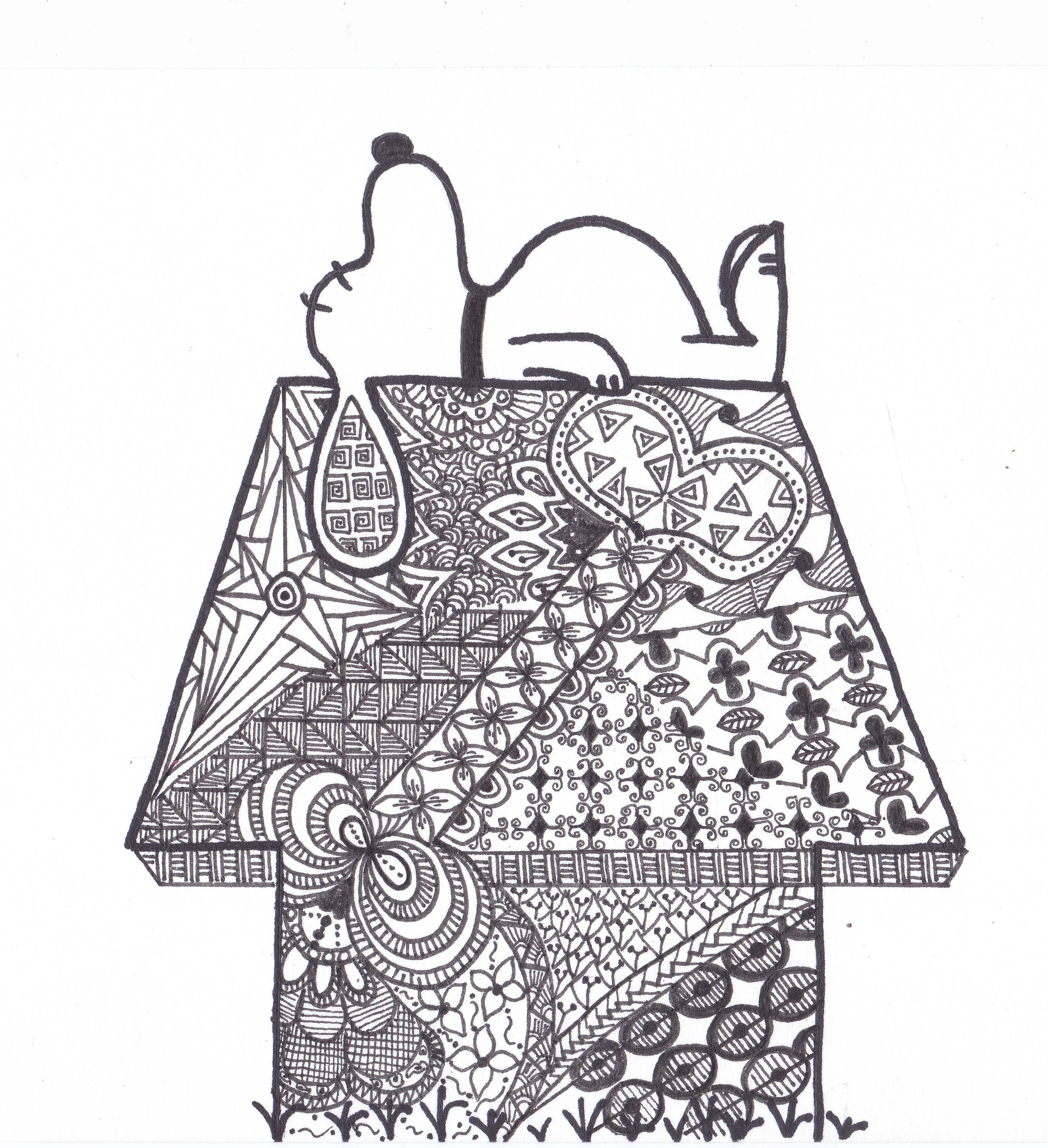Zentangle Snoopy My Mansion With Images Zentangle