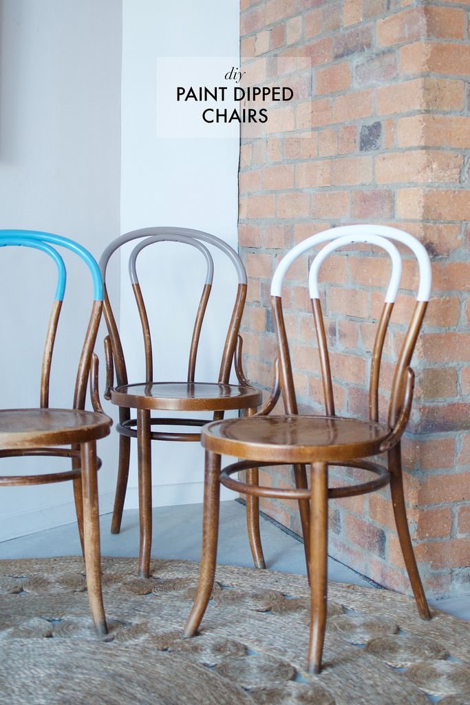 Diy Paint Dipped Chairs Organic Modernity Pinterest Mobilier