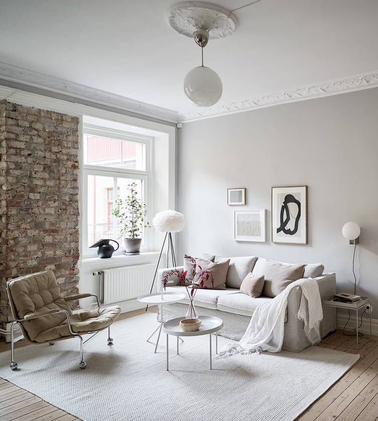 Beautiful Grey Home With A Soft Pink Touch With Images Greige Living Room Warm Grey Walls Interior Design Themes