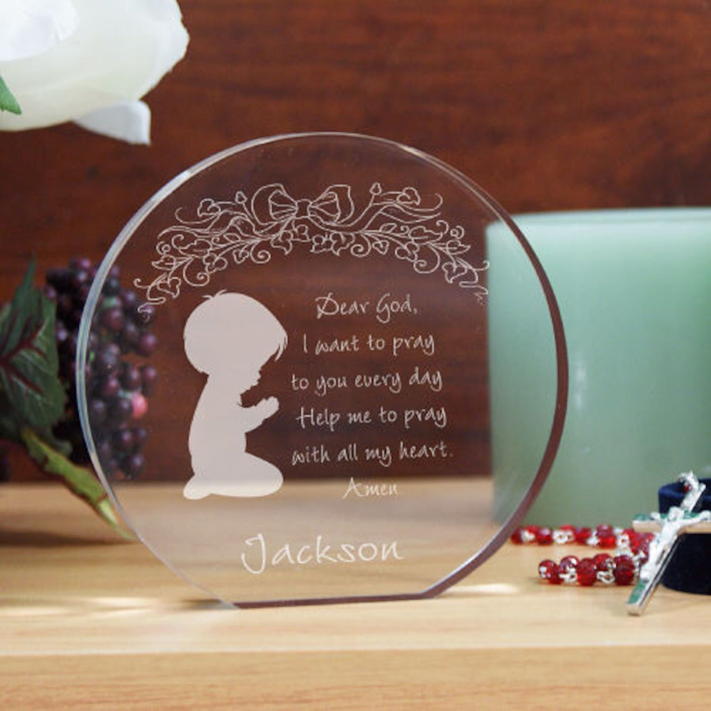 personalized engraved boy s prayer keepsake products pinterest